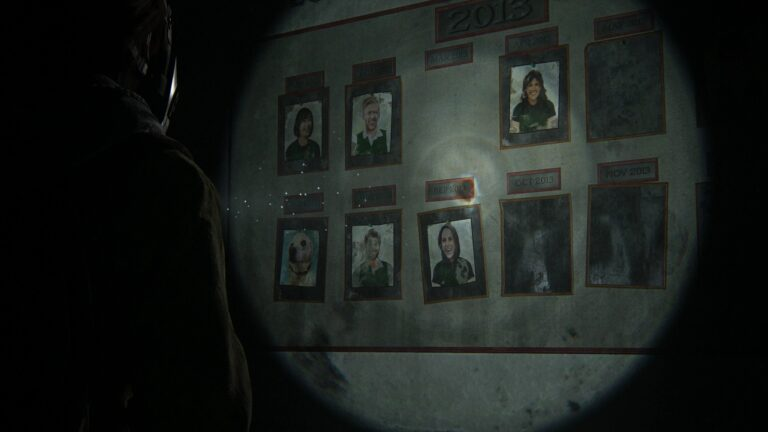 Board with employee awards in the Green Place Market in The Last of Us 2