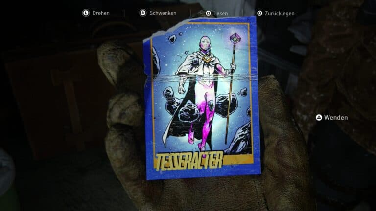 Trading card Tesseracter in The Last of Us 2