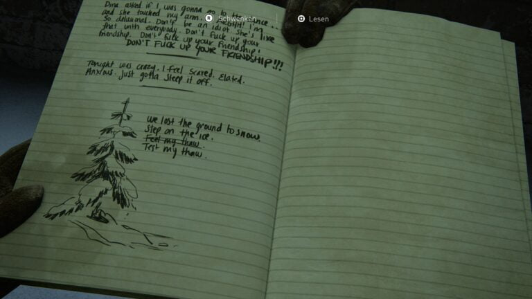 Journal entry on the balcony of the National Radio Array Station in The Last of Us 2