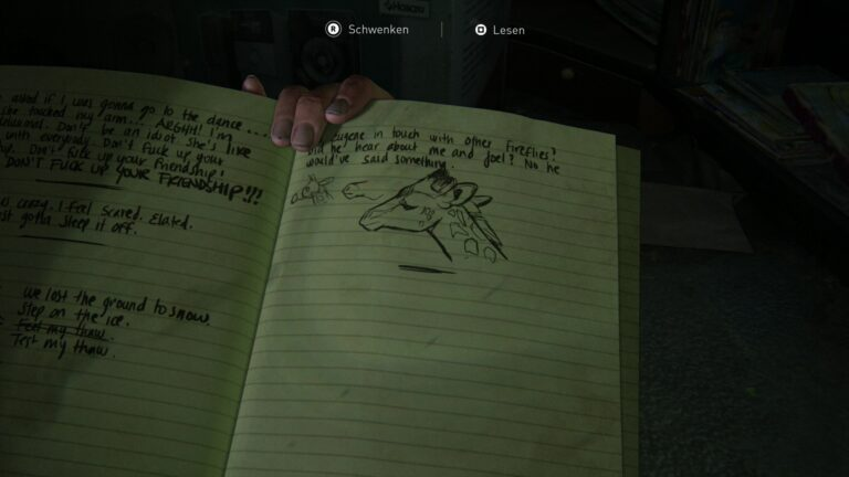 Journal entry Giraffe in The Last of Us 2