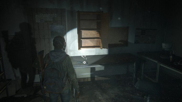Upgrade parts in the storeroom on the upper floor inside Green Place Market in the Last of Us 2