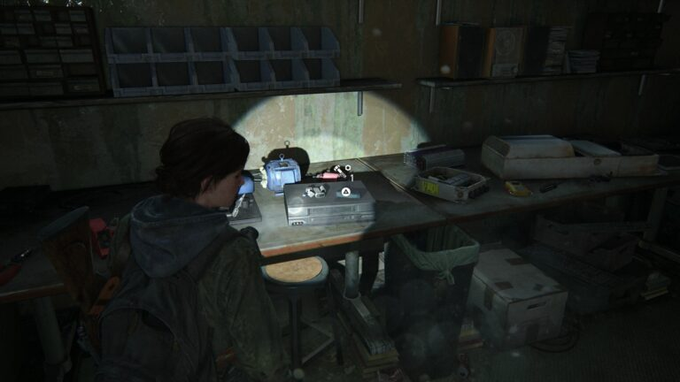 Parts in the Copy Center of the library in The Last of Us 2