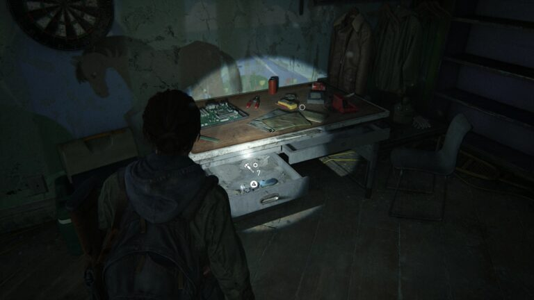 Upgrade parts in the back area of the children´s book section of the library in The Last of Us 2