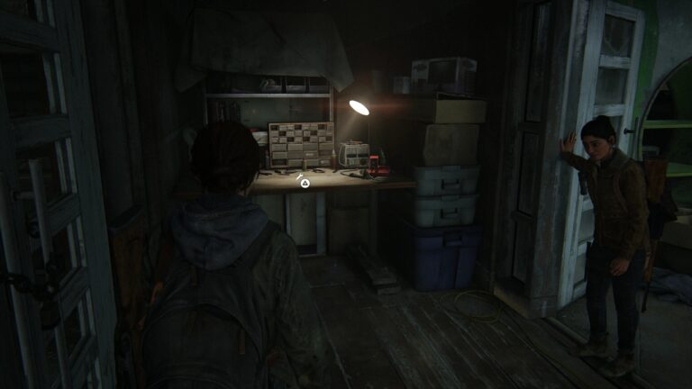 Eugene´s workbench in the library in The Last of Us 2