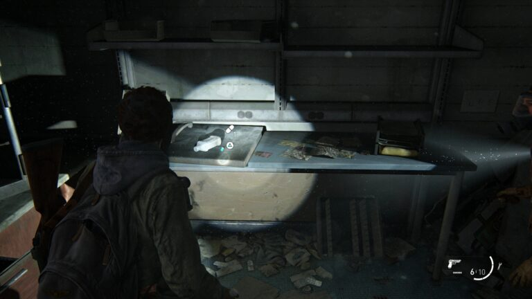 Supplements on the back table in the back room of Weston's Pharmacy in the Green Place Market in The Last of Us 2