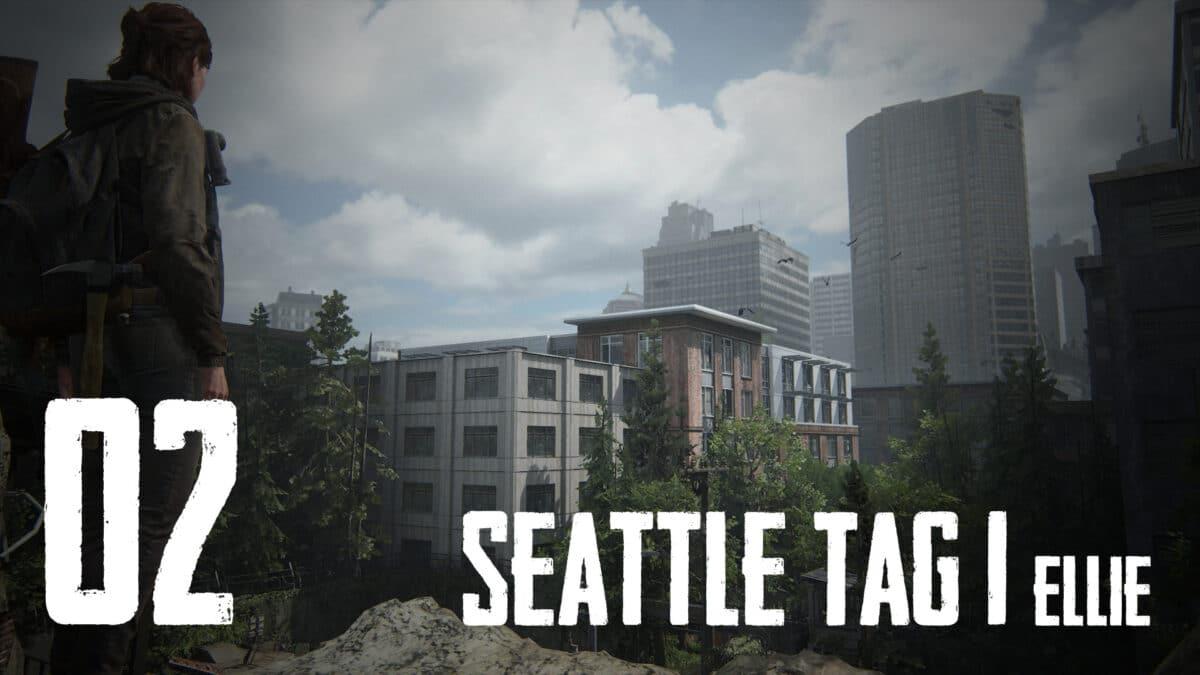 Ellie blickt das erste mal auf Seattle, hinter dem Tor