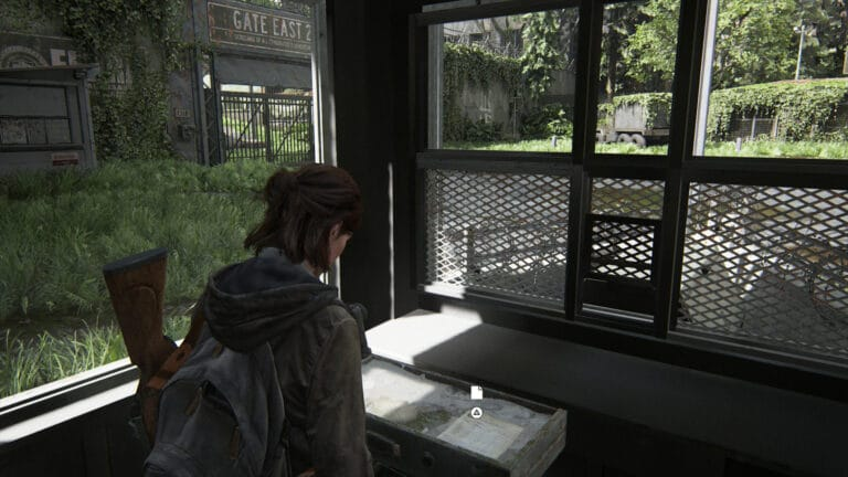 The artifact FEDRA Census Document is inside the drawer of the guardhouse in The Last of Us 2.