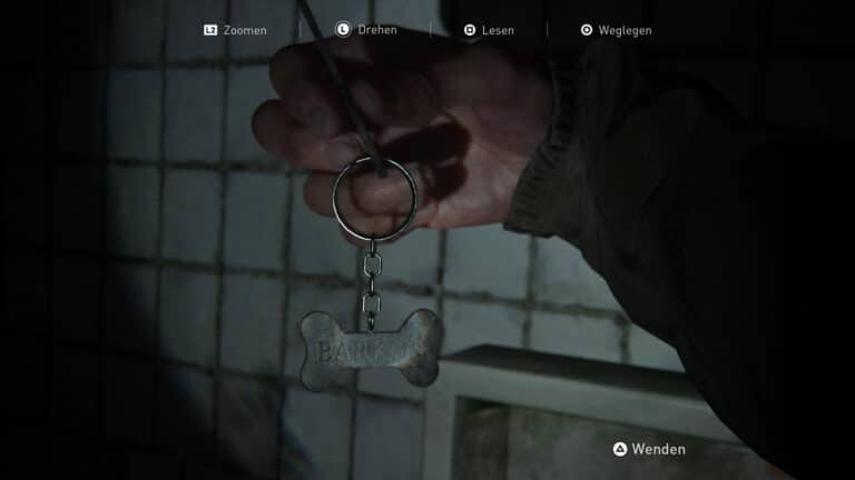Das Artefakt Schlüssel zur Tierhandlung in The Last of Us 2