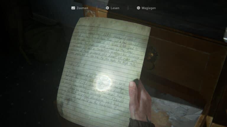 Das Artefakt Tagebuch eines WLF-Rekrutierers in The Last of Us 2