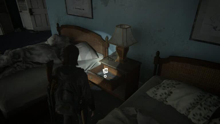 Know it All is inside the bedside table between the two beds.