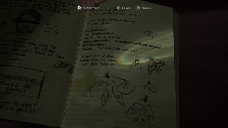 Journal Entry in the Rabbi´s office in The Last of Us 2.