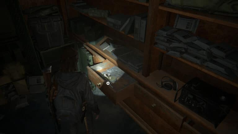 Upgrade-Teile im Concierge-Büro in The Last of Us 2