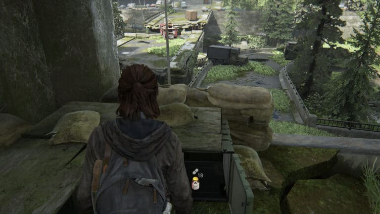 Supplements inside the auxiliary table in The Last of Us 2.