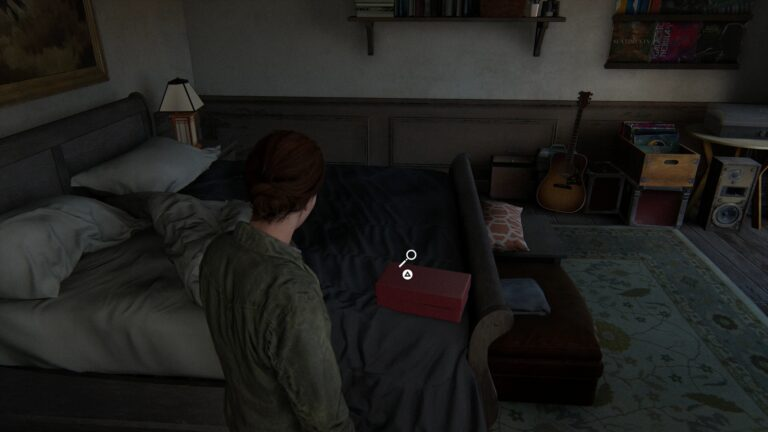 Red box with an artifact and a weapon in The Last of Us 2