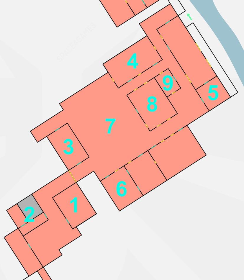 Karte The Last of Us 2, Büroräume The Nomad mit Markierungen