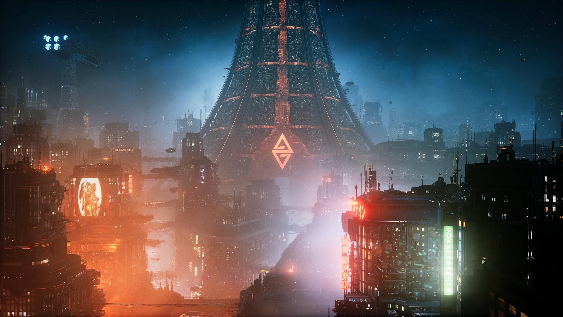 Die Metropole der Ascent Group im Spiel The Ascent.