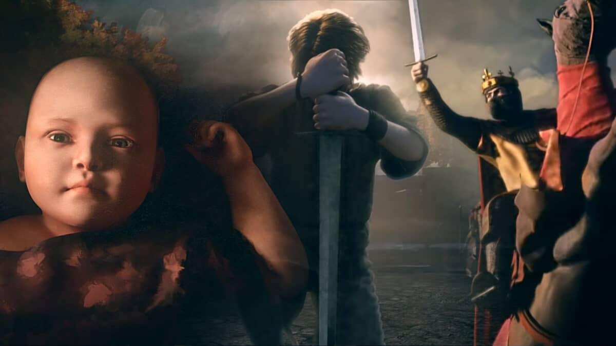 Kind, Kämpfer und Ritter aus Crusader Kings 3