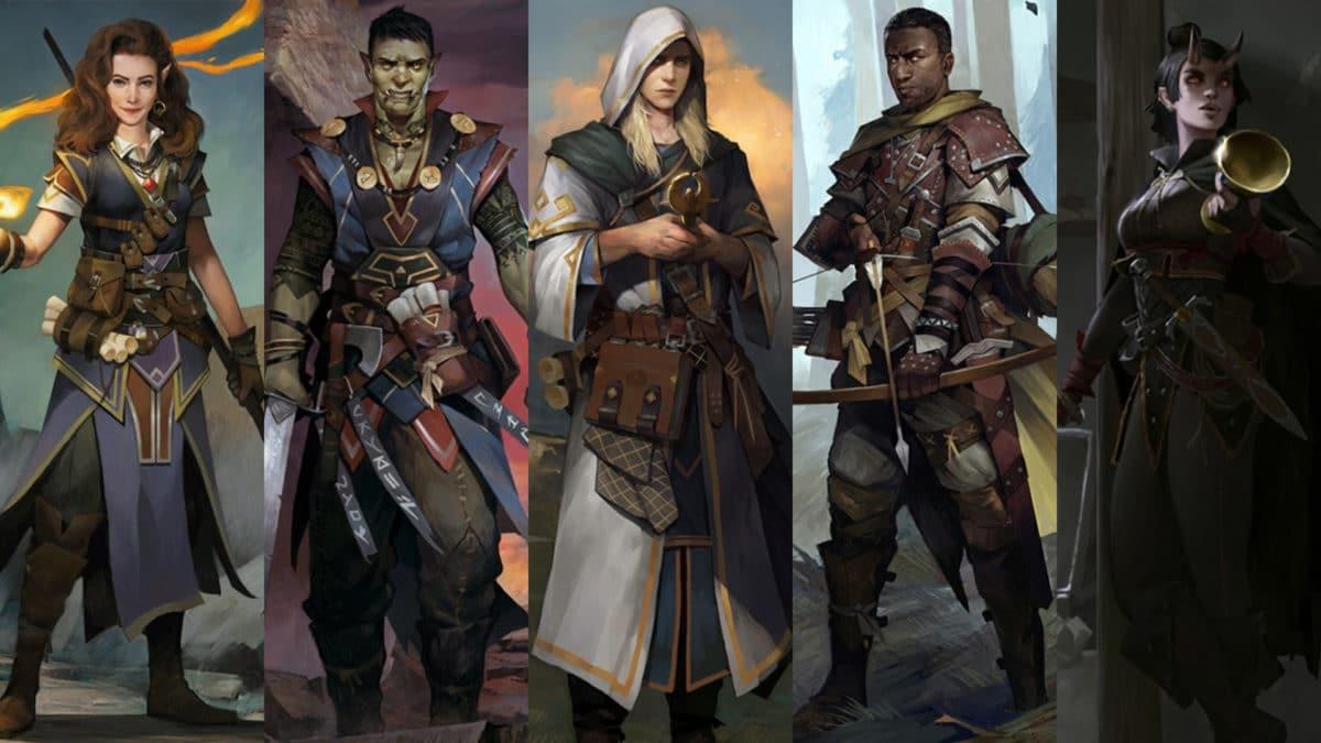 Fünf Begleiter aus Pathfinder: Kingmaker