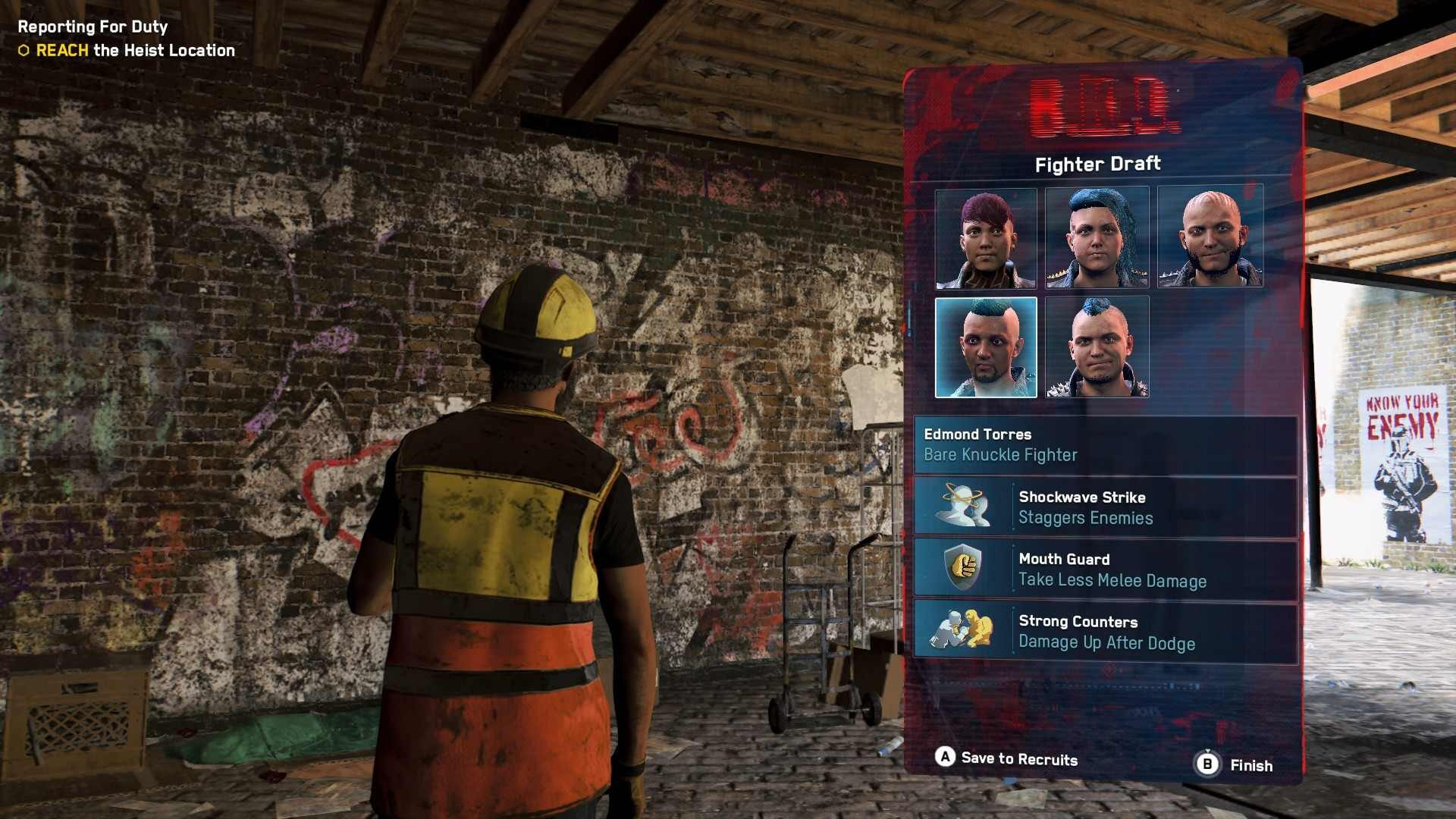 Operative chooses which bare knuckle champions to recruit in Watch Dogs Legion