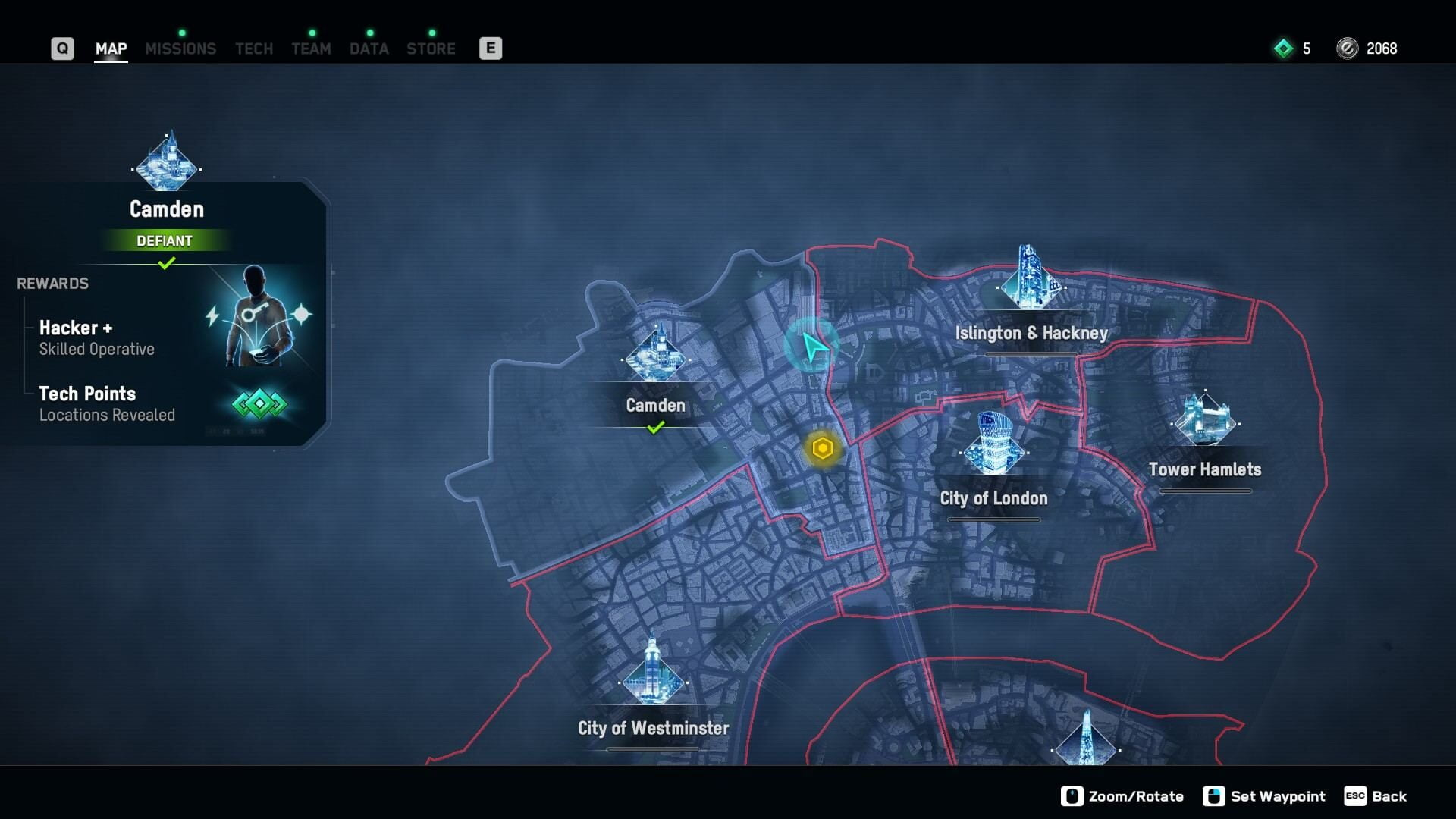 Watch Dogs Legion Map of Boroughs