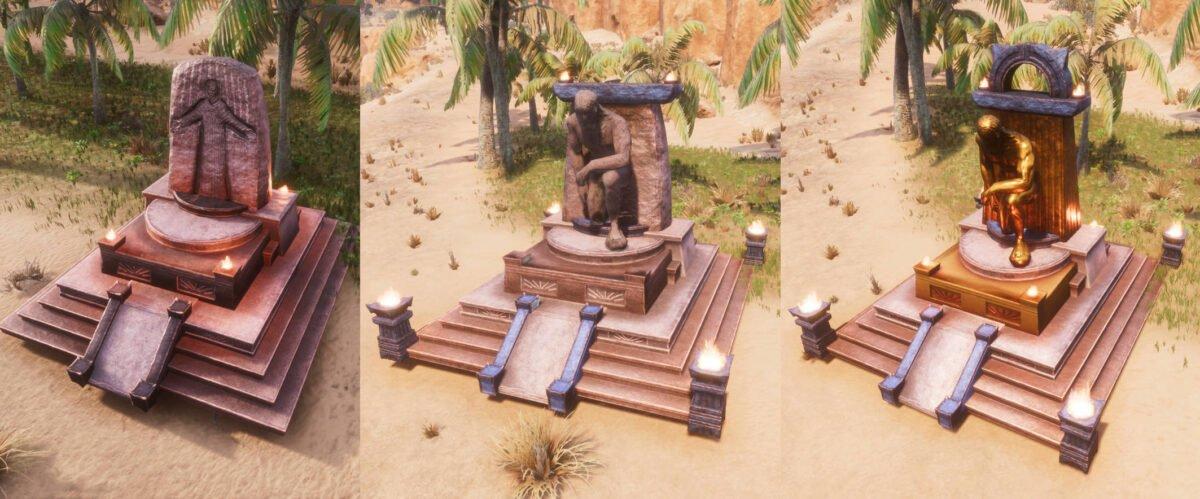 Conan Exiles Mitra-Altar in allen drei Stufen