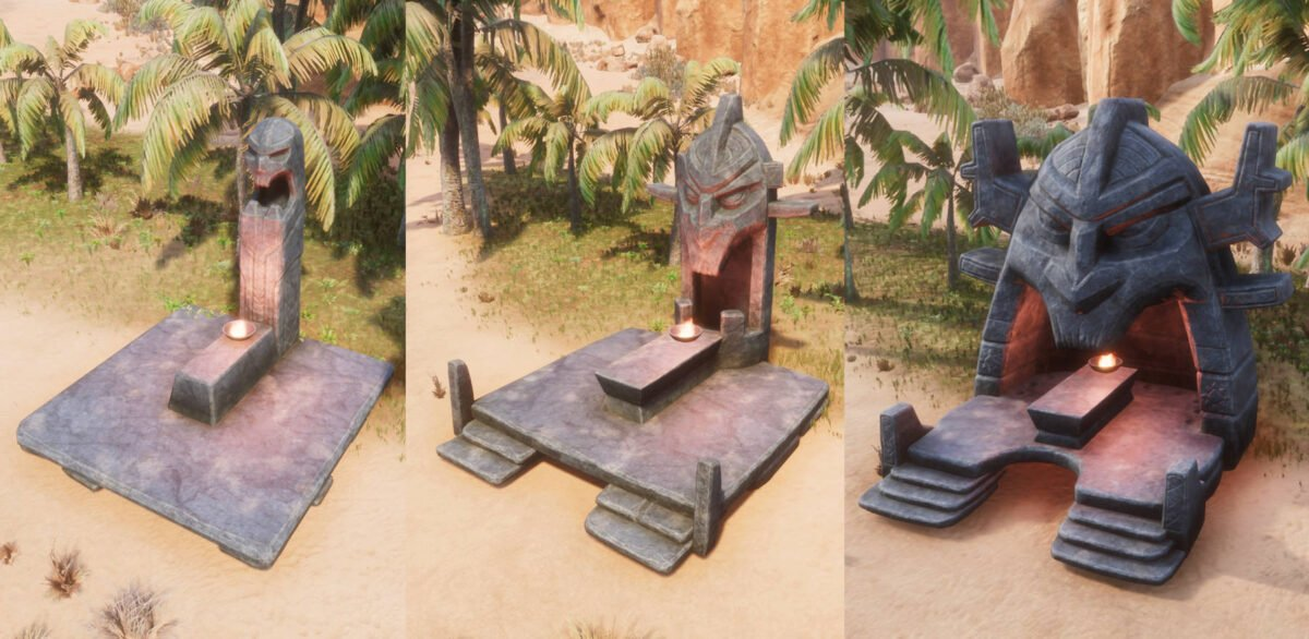 Conan Exiles Ymir-Altar in allen drei Stufen