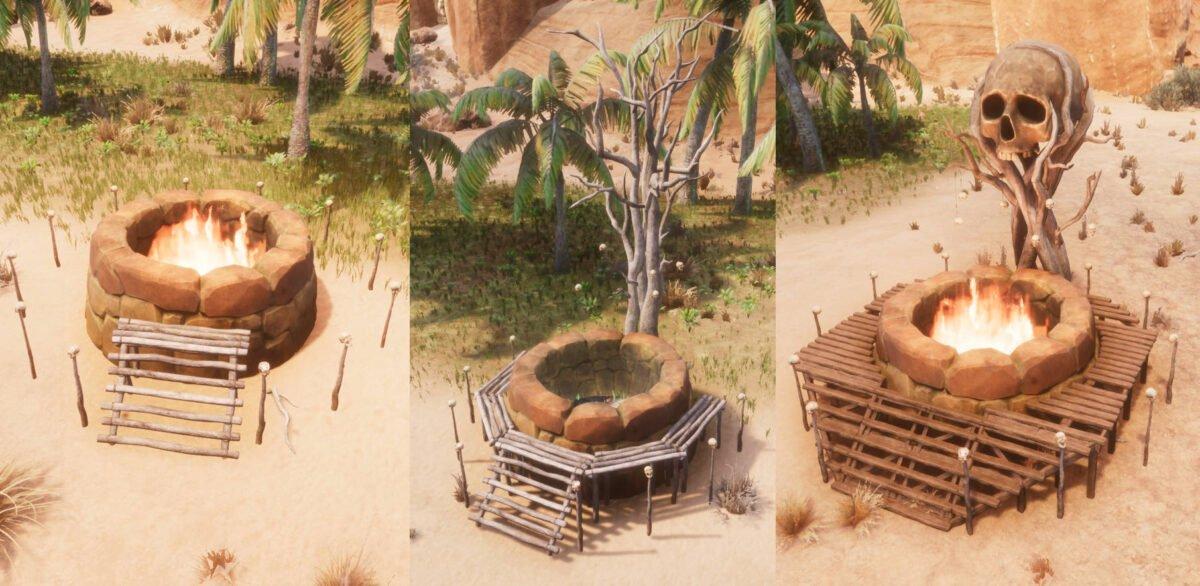 Conan Exiles Yog-Altar in allen drei Stufen