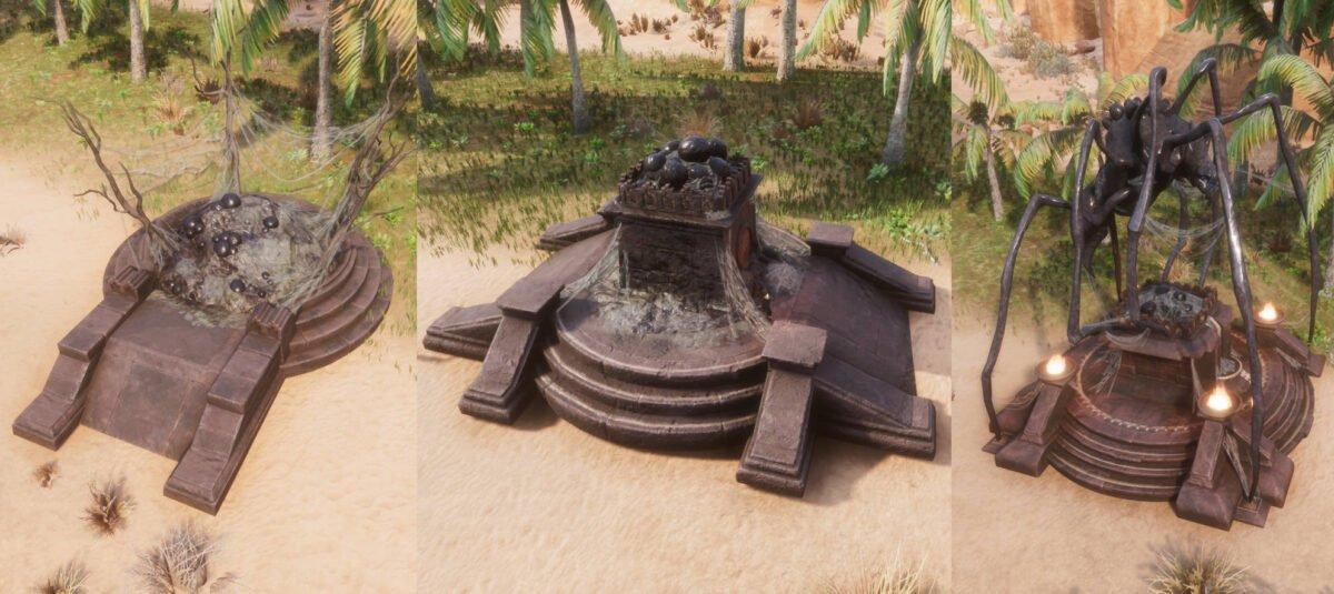 Conan Exiles Zath-Altar in allen drei Stufen