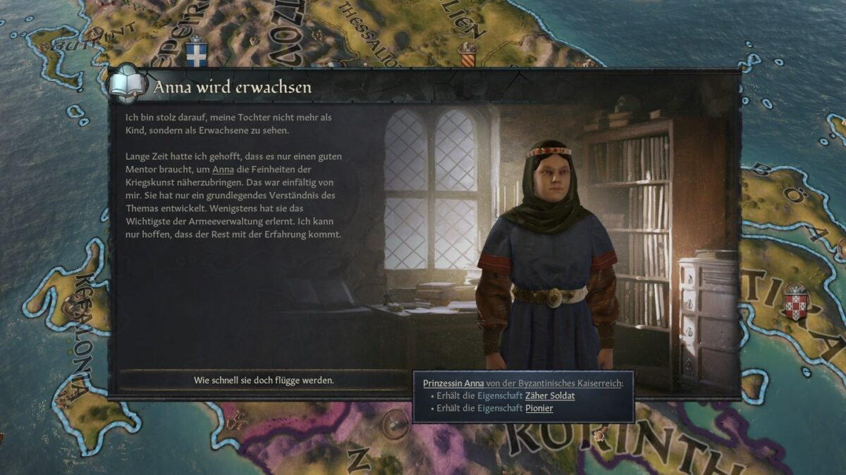 Crusader Kings 3 Result screen of the education of a daughter
