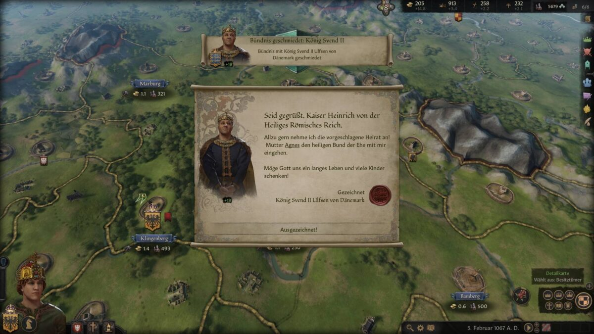 Crusader Kings 3 Marriage proposal is accepted by future husband