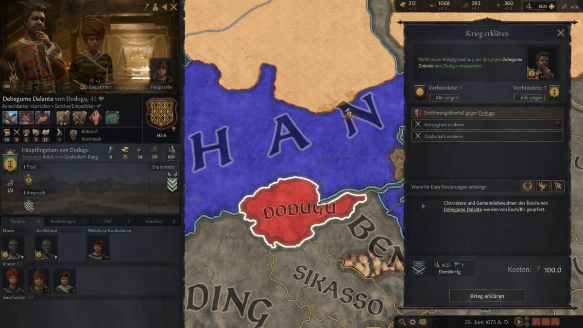 Crusader Kings 3 War Declaration Overview Window