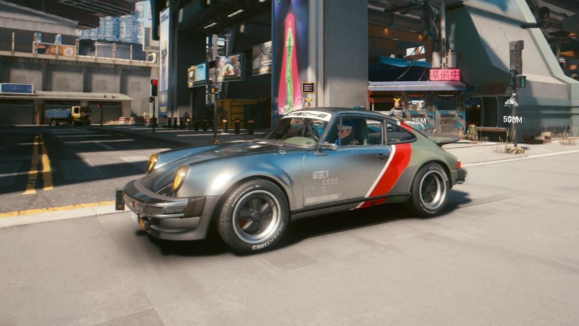 Cyberpunk 2077 Fahrzeuge Porsche 911 Turbo