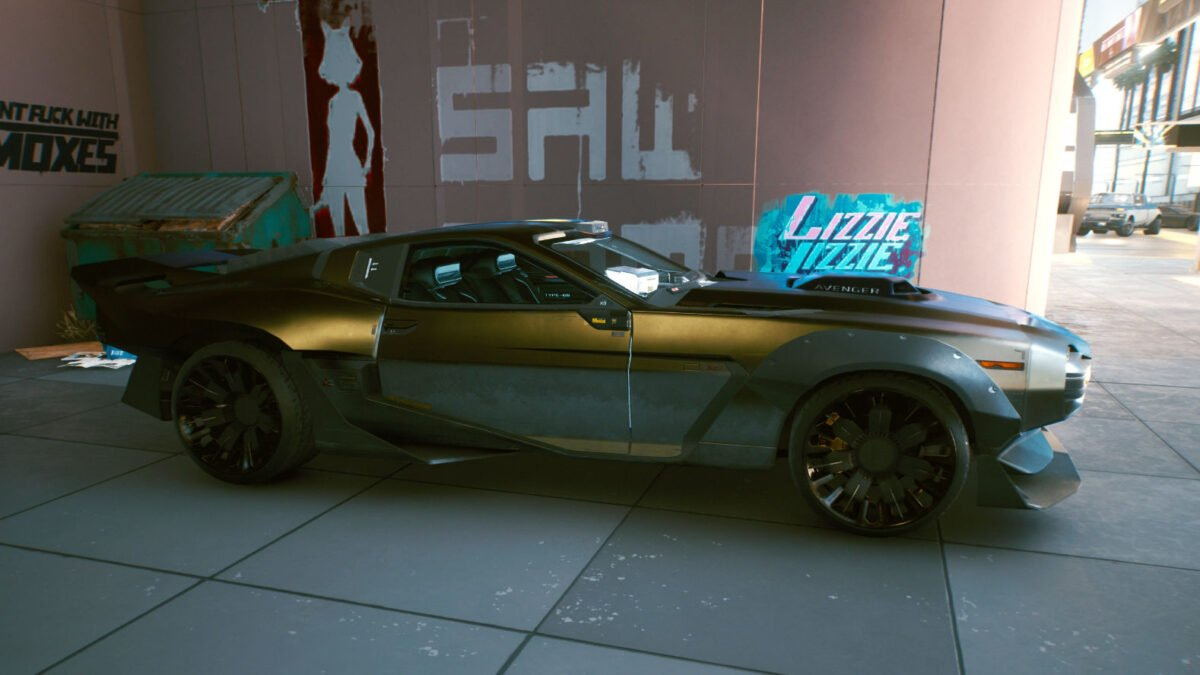 "Cyberpunk 2077 Fahrzeuge Quadra Type-66 ""Avenger"""