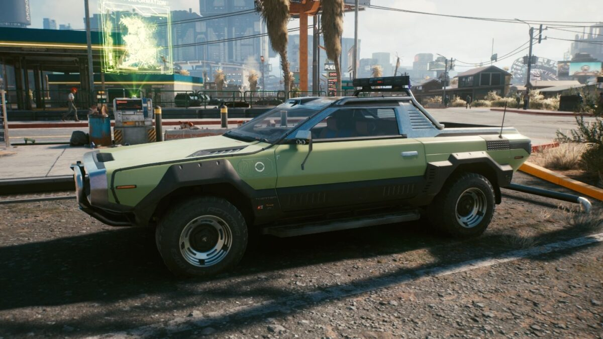 Cyberpunk 2077 Vehicles Thorton Colby CX410 Butte green