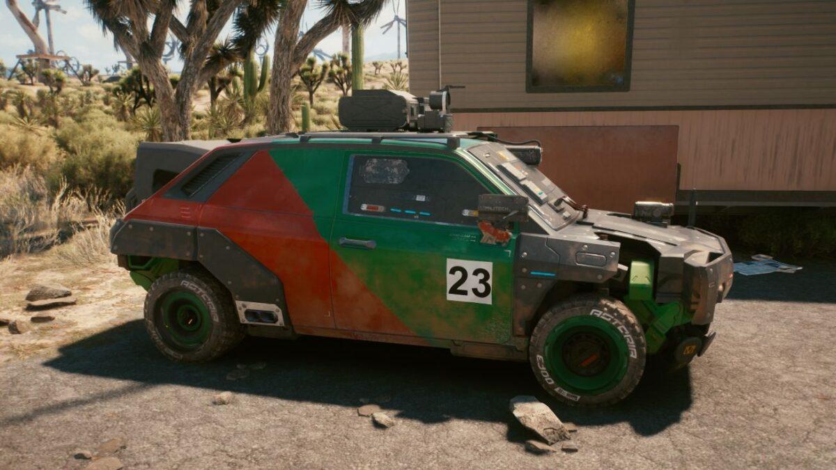 "Cyberpunk 2077 Fahrzeuge Thorton Galena ""Gecko"""