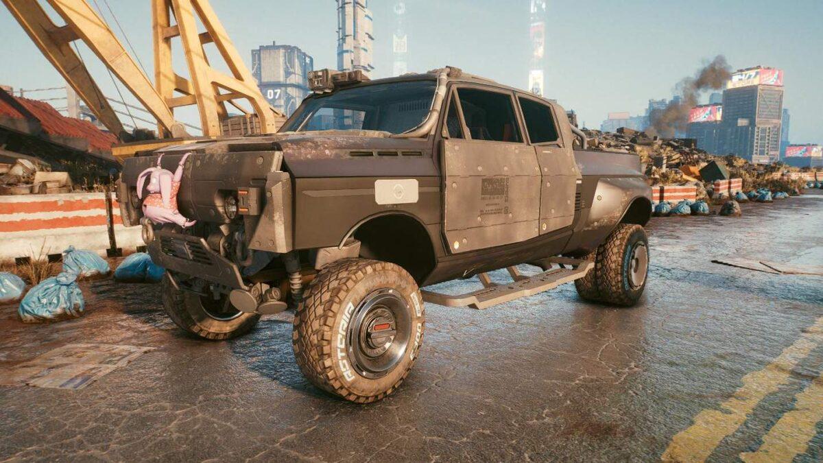 "Cyberpunk 2077 Fahrzeuge Thorton Mackinaw ""Beast"""