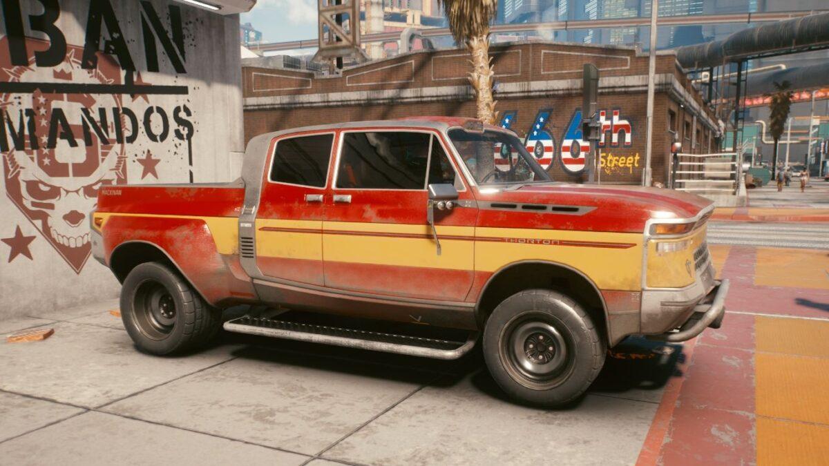 Cyberpunk 2077 Fahrzeuge Thorton Mackinaw MTL1