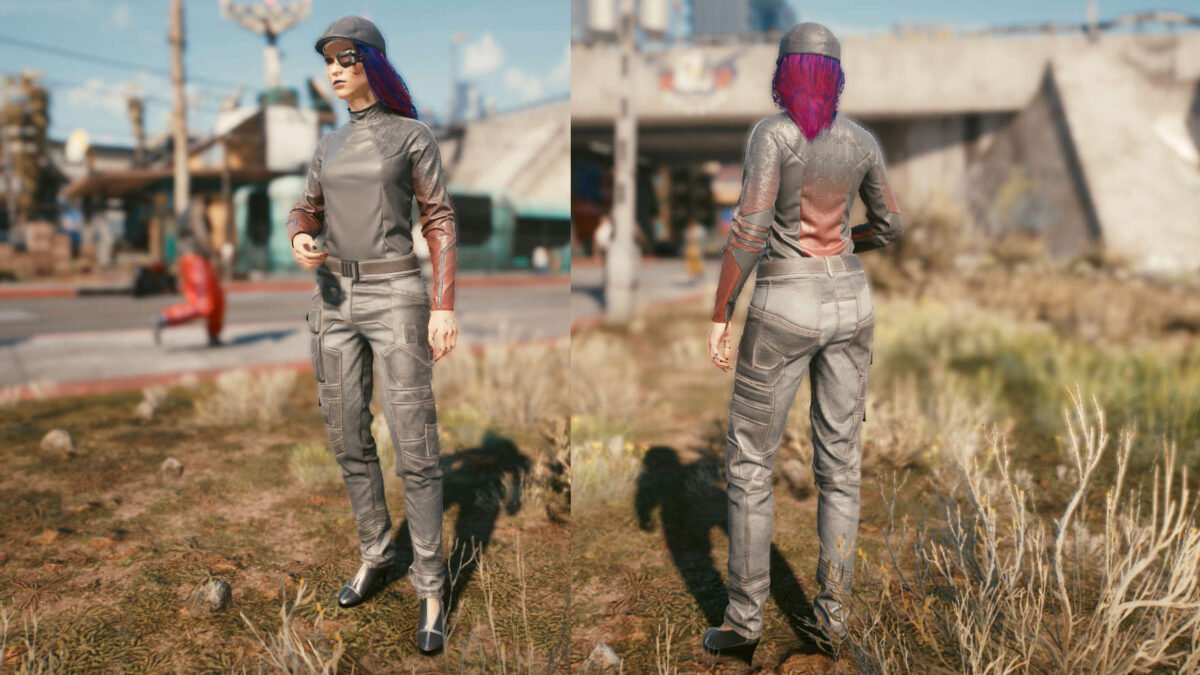 Cyberpunk 2077 Clothing Guide Front and back view of the legendary media set.