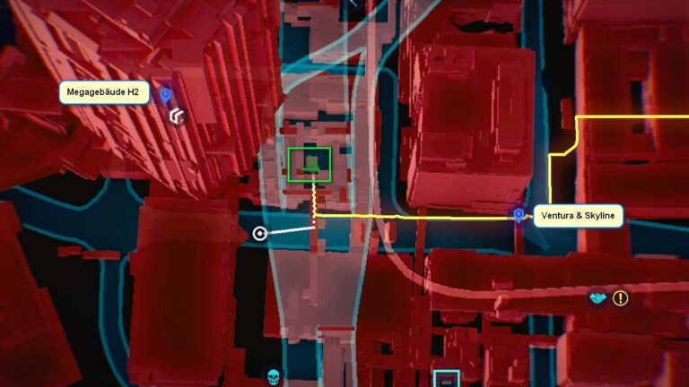 Cyberpunk 2077 Kleidung-Guide Kartenposition des Netrunner-Anzugs