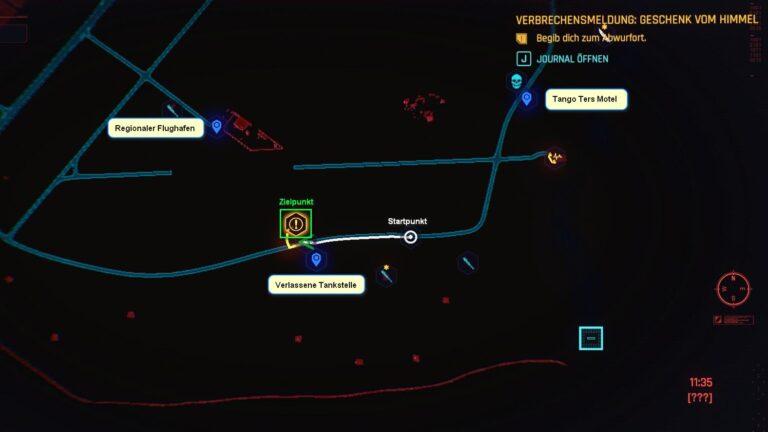 Cyberpunk 2077 Kleidung-Guide Kartenposition der Netrunner-Brille