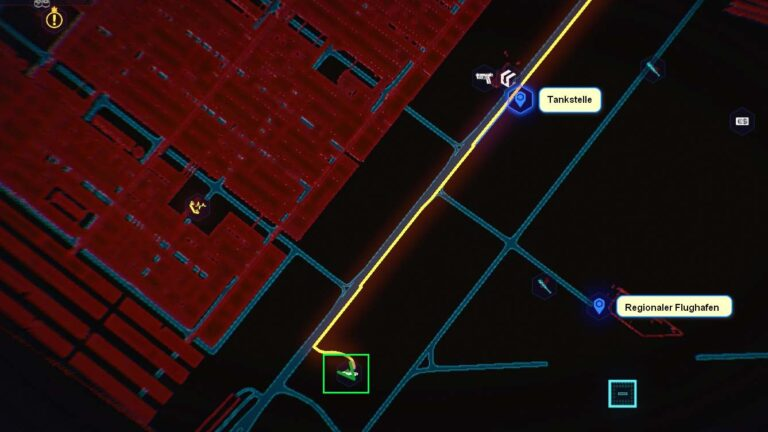 Cyberpunk 2077 Kleidung-Guide Kartenposition der Nomad-Jacke