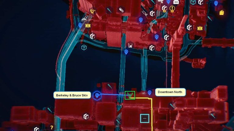 Cyberpunk 2077 Kleidung-Guide Kartenposition der Rockerboy-Hose