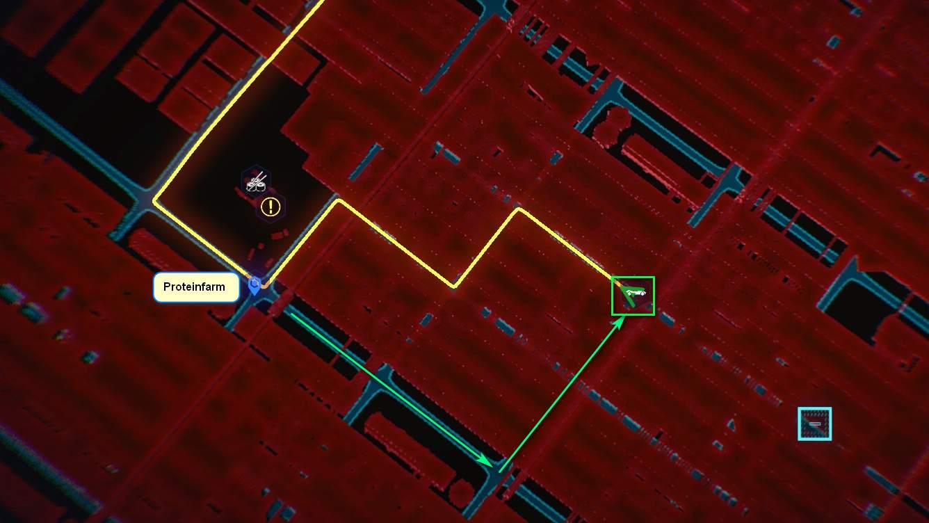 Cyberpunk 2077 Kleidung-Guide Kartenposition der Solo-Brille