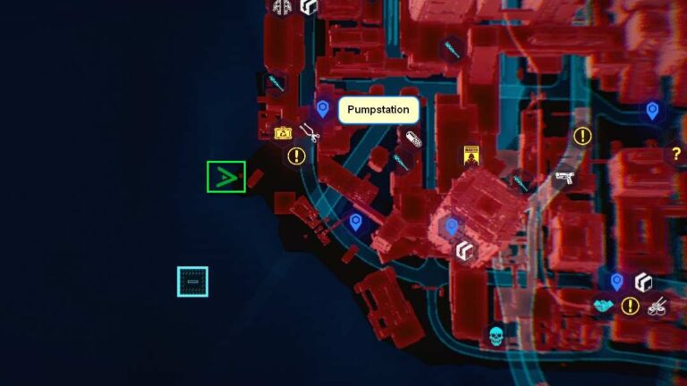 Cyberpunk 2077 Kleidung-Guide Kartenposition der Solo-Hose