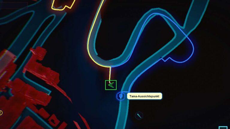 Cyberpunk 2077 Kleidung-Guide Kartenposition der Techie-Hose
