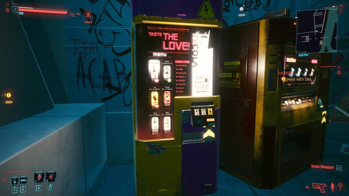 Cyberpunk 2077 Money Making Guide beverage vending machine