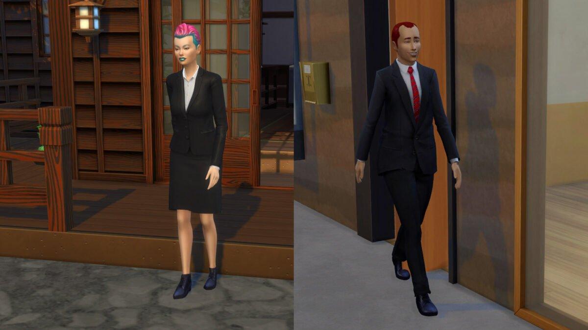 Sims 4 Ab ins Schneeparadies Zwei Büroangestellte