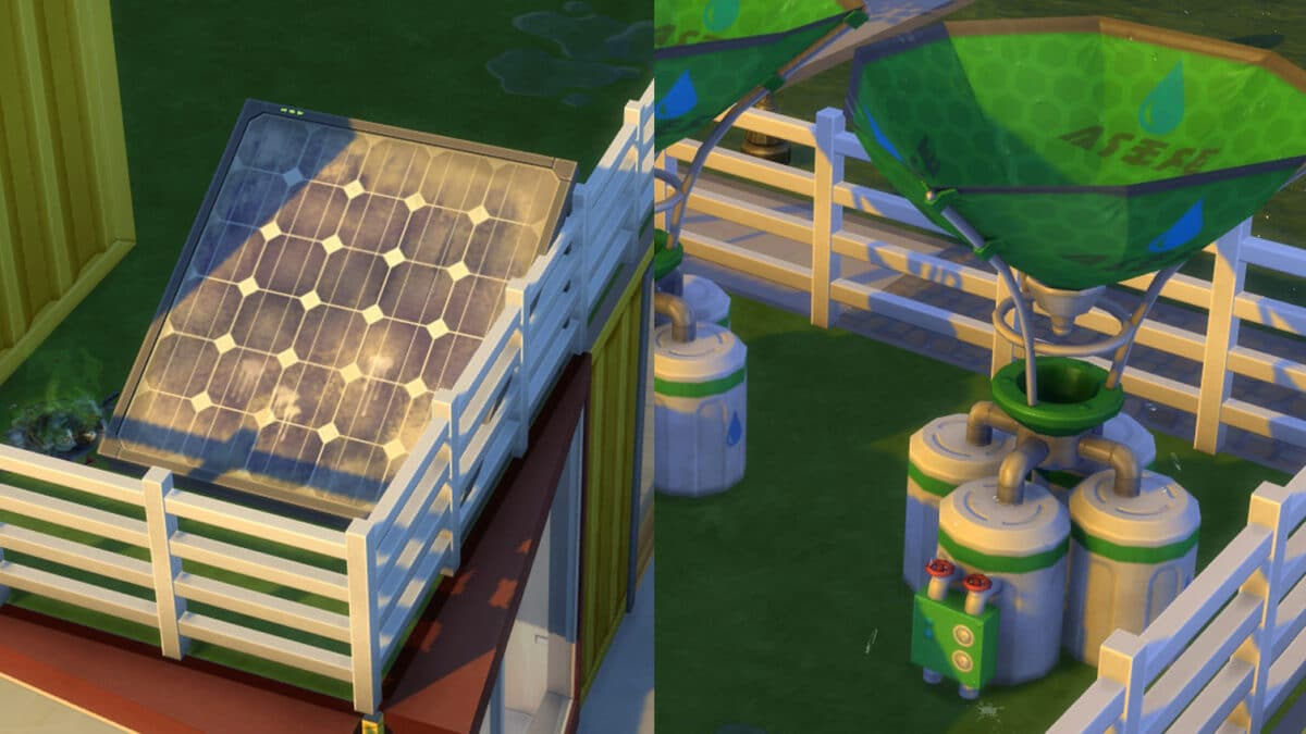 Schmutziges Solarpaneel und kaputter Tausammler
