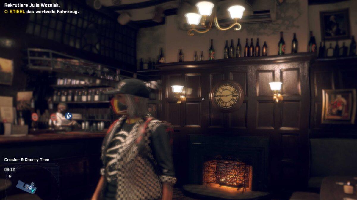 Watch Dogs Legion Betrunkene Agentin sieht in Pub alles doppelt